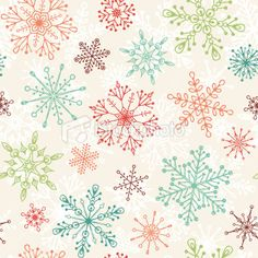 Vintage Christmas Pattern Royalty Free Stock Vector Art Illustration