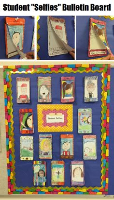 "Have your students draw ""selfies"" and describe their summer via text message prompts. Makes for a great bulletin board display! Fun, contemporary back-to-school activity!!"