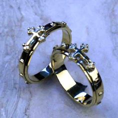 14k gold rosary ring