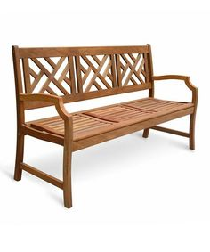 Take a look at this Eucalyptus Crosshatch Outdoor Bench by Lookboard on #zulily today!