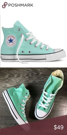 6dd36a00b7aa Converse chuck Taylor mint Tiffany hi top shoes Brand new Converse Shoes  Sneakers Top Shoes