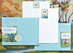 Paint By Numbers Envelope Wrap & Stationary Labels