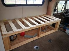 Frame Work To The New Couch Slide Out Bed Diy Rv