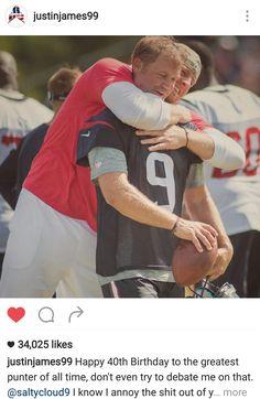 JJ Watt's Instagram - 8.7.16 - Happy Birthday Shane Lechler!