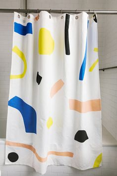 Abstract shower curtian