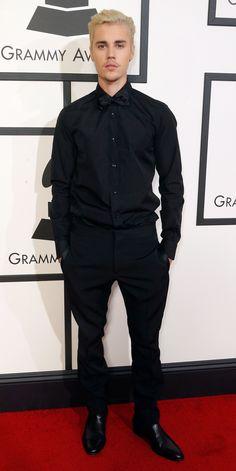 Justin Bieber in a black suit