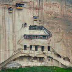 Sanshisan Tian temple, Matisi Shiku caves, 马蹄寺石窟群, Zhangye, Gansu, China