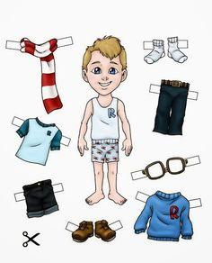 Brincar de Faz de conta, a criança pode montar as bonequinhas e colocar as roupas.    Imprimir o papel de peças de roupa da boneca. Rec...