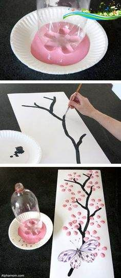 DIY wall art using an empty 2 liter bottle! -- Easy DIY craft ideas for adults for the home, for fun, for gifts, to sell and more! Some of these would be perfect for Christmas or other holidays. A lot of awesome projects here! Listotic.com<br> Kids Crafts, Arts And Crafts For Teens, Art And Craft Videos, Easy Arts And Crafts, Adult Crafts, Diy Home Crafts, Easy Diy Crafts, Diy Crafts To Sell, Holiday Crafts