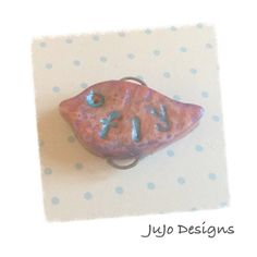 Fly  Polymer Clay Handcrafted charm / connector by JuJoDesigns