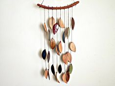 Stoneware Ceramic Leaf Chimes Mobile, Made to Order on Etsy, $55.00