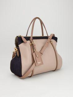NINA RICCI - Black and beige medium tote bag