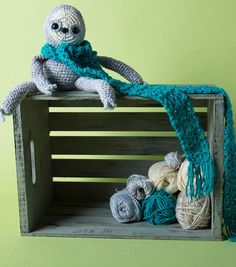 How To Crochet A Sloth Doll and Scarf