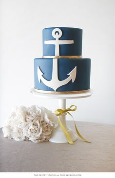 10 Sea-Loving Nautical Cakes | including this design by The Pastry Studio | on TheCakeBlog.com
