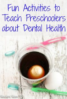 Teaching Preschoolers Dental Health                                                                                                                                                                                 More