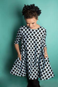 Robe Luisa Patron Make my limonade : free pdf / 40 pages / tuto video (valeurs de couture non comprises -  1m50 de tissus - couper les manches dans le biais si tissu non stress )