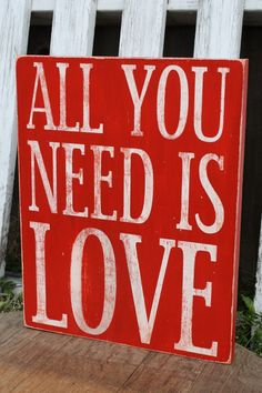 All You Need Is Love Wood Sign - a Silhouette CAMEO or Portrait project!