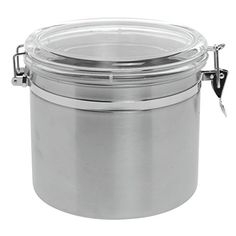 Stainless Steel Canister with Air Tight Lid 145oz 8Dia x 8H ** Visit the image link more details.