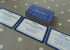Harry Potter & The Philosopher's Stone Set of 50 Spell Cards Board - Game Spares, crafts, upcycling