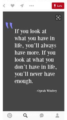 Lol.  A little inspiration from Oprah.