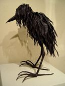 """Napper"" - Welded Steel Bird Sculpture by Nina Scott-Hansen"