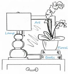 In case you were wondering how interior designers' tables are styled so well. There IS a formula! - good blog for decor ideas