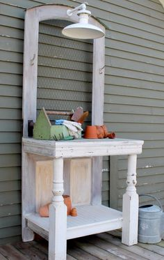 I can use my cool posts from the antique fireplace mantel I saved.