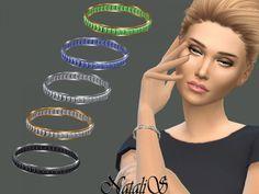 TSR: Baguette Crystals Bracelet by NataliS • Sims 4 Downloads