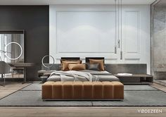 Lovely Home Interior Ideas Modern Bedroom Design, Master Bedroom Design, Contemporary Bedroom, Bed Design, Home Bedroom, Bedroom Wall, Bedroom Decor, Bedroom Ideas, Bedroom Designs