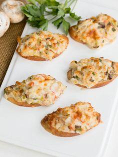 Crab Mushroom Canapés Recipe