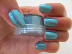 Or, turn broken eyeshadow into a custom nail color by mixing the pigment with clear polish.