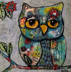 bright color + owls = <3