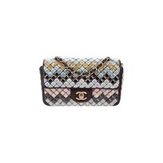 Pre-owned Chanel Mosaic Small Flap Bag ($6,700) ❤ liked on Polyvore featuring bags, handbags, shoulder bags, leather handbags, man leather shoulder bag, man bag, flap bag and genuine leather shoulder bag