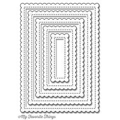 My Favorite Things STITCHED MINI SCALLOP RECTANGLE STAX Die-Namics MFT791