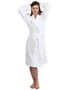 6eef9b9fce TowelSelections Turkish Terry Bathrobe 100 Turkish Cotton Terry Cloth Robe  for Women and Men Made in Turkey White SM -- You can get additional details  at ...