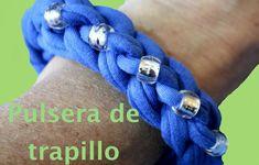 Pulsera fácil de trapillo con dos dedos. Bead Zpaguetti yarn bracelet