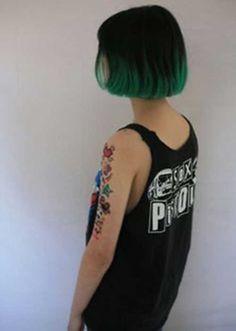 Short Dark Green Hair