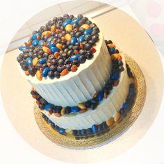wedding cake two tiers blue yellow orange blueberries almond #aidinabakeacake свадебный торт на заказ Москва