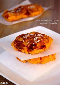 Galettes de patates douces au chorizo et paprika