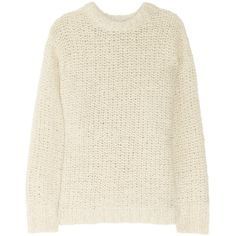 Isabel Marant Quena chunky-knit wool and alpaca sweater ❤ liked on Polyvore