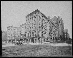 Burnet House (Hotel) - Richardson's Chamber of Commerce behind it on Fourth Street - Cincinnati