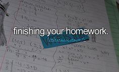 Finishing your homework // #littlereasonstosmile