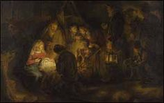 Rembrandt, The Adoration of The Shepherds , 1646.