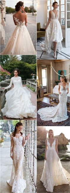 Lace Wedding Dresses and Bridal Gowns / http://www.deerpearlflowers.com/lace-wedding-dresses-and-gowns/