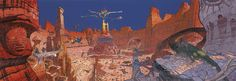 The Art of Jean Giraud aka Mœbius Carlos Castaneda, Alien 1979, Comic Book Artists, Comic Artist, Concept Ships, Concept Art, Star Wars Episodio V, Jean Giraud Moebius, Moebius Artist
