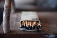 wooden match sticks  by lisamacintosh   Stocksy United