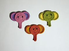 Elephant head applique 1 idea for jungle baby boy afghan..... Want to learn to do this.