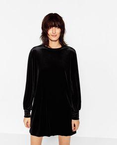 Image 2 of STRAIGHT VELVET DRESS from Zara