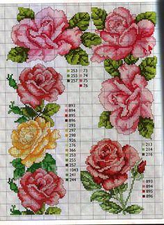 CURIOSA CORUJA: Gráfico ponto cruz - flores