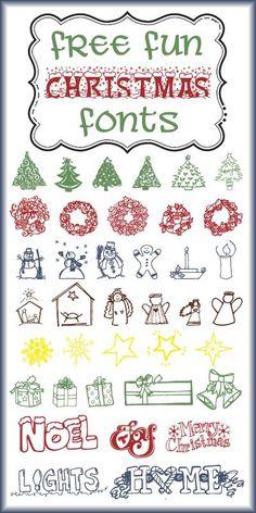More Free Christmas Font Fun! - Fun Graphics - Ideas of Fun Graphics - {enjoy the view}: More Free Christmas Font Fun! Christmas Fonts, Christmas Doodles, Christmas Printables, Christmas Crafts, Fancy Fonts, Cool Fonts, Dingbat Fonts, Cursive Fonts, Computer Font